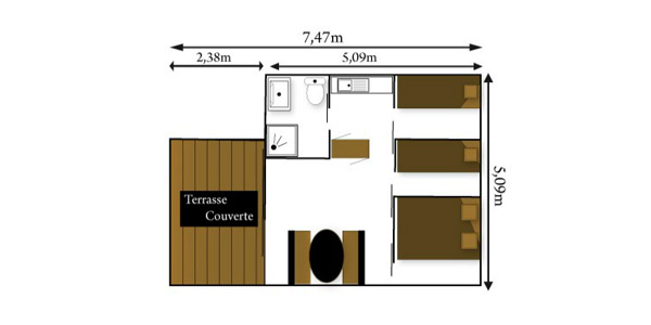 Morea 1 2 3 4 5 6 7 8 for Plan bungalow 1 chambre